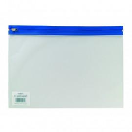 Vetoketjutasku Snopake Zippa Bag S A4 kirkas/sininen