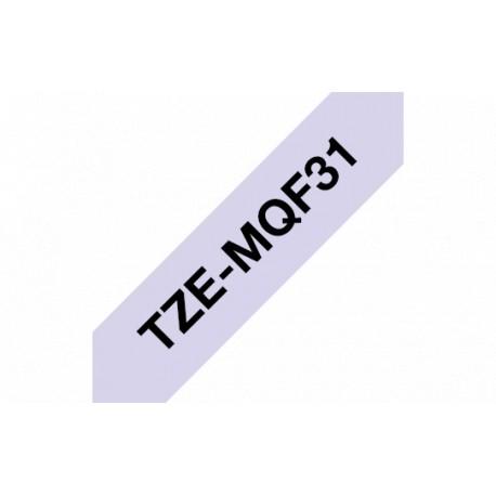 P-touch Satiininauha TZe-MQF31 musta/lila