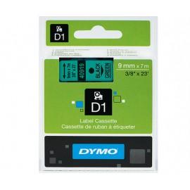 Dymo D1 9mm musta/vihreä 40919