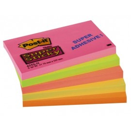 Post-It 655-SN 76x127 SuperSticky värilajitelma /nide