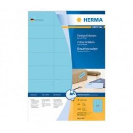 Herma 4408 Sininen monikäyttötarra 70x37mm 24-jakoinen /2400