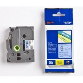 p-touch 9mm tze-521 musta/sininen