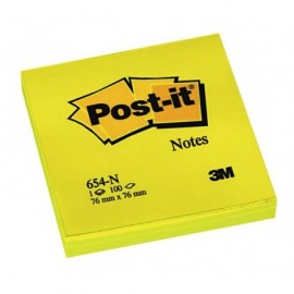 Post-It 654-N 76x76 neonkeltainen viestilappu