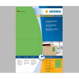 Herma 4399 Vihreä monikäyttötarra 105x148mm 4-jakoinen /400