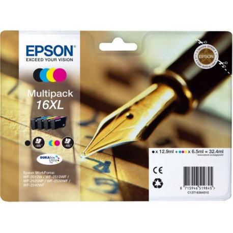 Epson T1636 (16XL) Multipack 4 mustepatruunaa CMYK