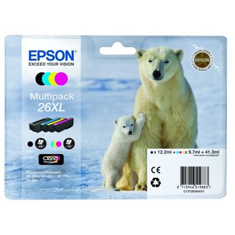 Epson T26 (26XL) Multipack 4 mustepatruunaa