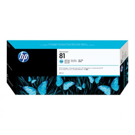 HP No 81 Light Cyan Mustepatruuna 680ml