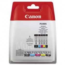 Canon PGI-570+CLI-571 Value Pack PGBK/C/M/Y/BK