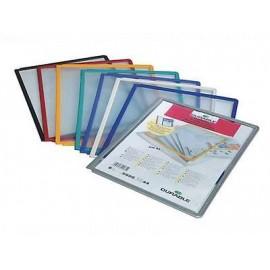 Selailutelineen tasku Durable 5606 musta /5kpl