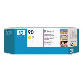HP No 90 Yellow Print Head & Cleaner