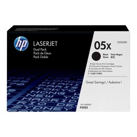HP 05XD Musta Laserkasetti Dual Pack 2x6,5K (CE505XD)