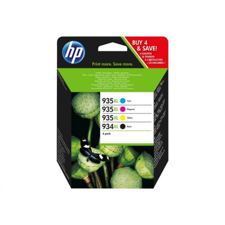 HP No 935XL + 934XL Value Pack C/M/Y/K