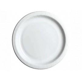 Kartonkilautanen 22cm valkoinen /50kpl