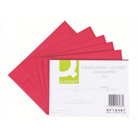 Kirjekuori C6 Punainen /10kpl