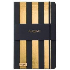 Muistikirja Castelli Stripes Gold