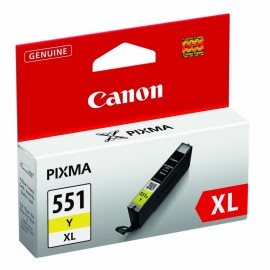 Canon CLI-551Y XL Mustepatruuna Yellow