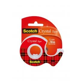 Yleisteippi Scotch 600 Crystal 12mmx10m katkojalla