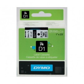Dymo D1 24 mm musta/valkoinen 53713