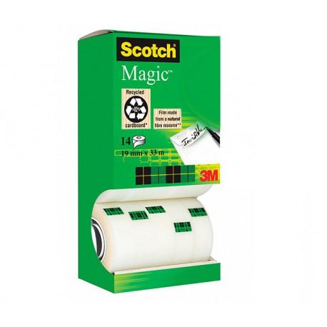 Asiakirjateippi hyllypakkaus 19mm Scotch 810 Magic (14 rullaa) - toimistoteippi suurkulutukseen