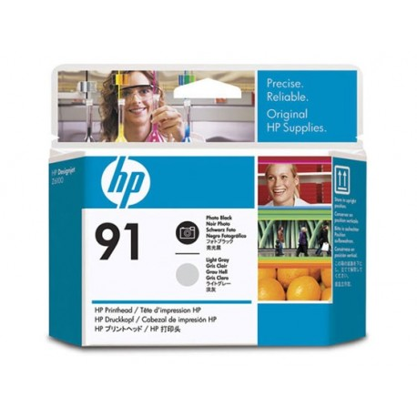 HP No 91 Black + Light Grey Print Head