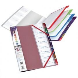 Lajittelukansio Snopake Rainbow - ryhdikäs tuote asiakirjojen lajitteluun