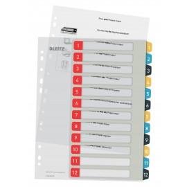 Numerohakemisto 1-12 A4+ Tulostettava Leitz L:Print Cosy