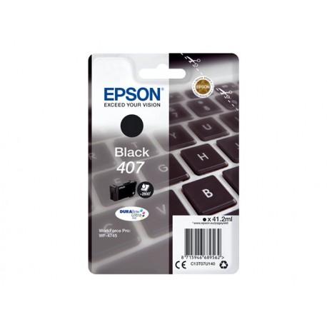 Epson 407 Musta Mustepatruuna