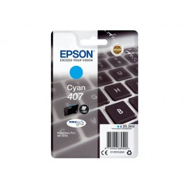 Epson 407 Cyan Mustepatruuna