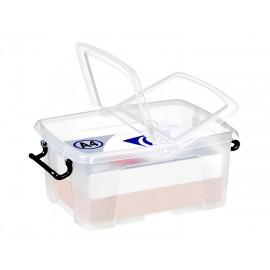 Säilytyslaatikko CEP Strata12L kannella läpinäkyvä - 100% kierrätettävää polypropeenia