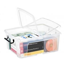 Säilytyslaatikko CEP Strata 24L kannella läpinäkyvä - 100% kierrätettävää polypropeenia