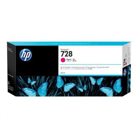 HP 728 Magenta 300ml Mustepatruuna
