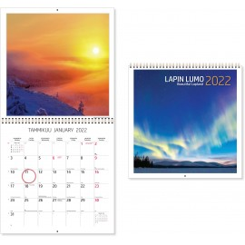 Lapin lumo 2022 Seinäkalenteri - Lumoavia kuvia pohjoisesta