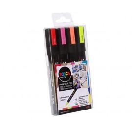 UNI PC-5M Paint marker 2,5mm Värilajitelma 4 väriä
