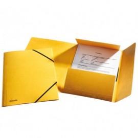 Esselte kulmalukkokansio A4 läpillä keltainen