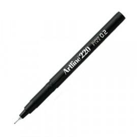 Kuitukynä Artline 220 0,2mm Musta