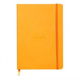 Muistikirja A5 Rhodiarama Orange - tyylikästä italialaista keinonahkaa