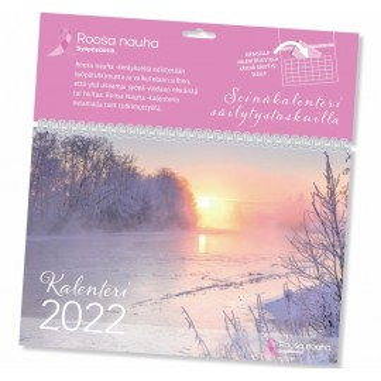 Kalenterimappi 2022 Roosa Nauha - mainio seinäkalenteri myös liikelahjaksi omalla logolla