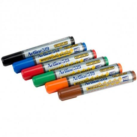 Valkotaulutussi 6 väriä Artline 519 - parasta laatua luokkahuoneille ja esitelmöintiin