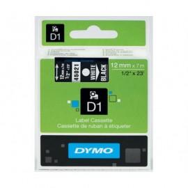 Dymo D1 12 mm valkoinen/musta 45021