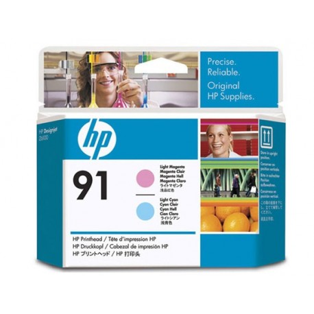 HP No 91 Light Magenta + Cyan Print Head