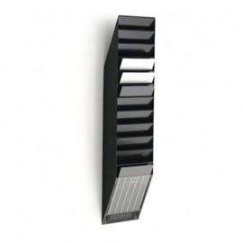 Seinäpaperiteline Durable Flexiboxx 12-os. pysty/musta