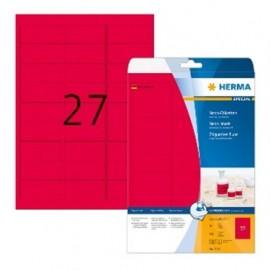 Herma 5045 tarra 63,5x29,6mm Neonpunainen