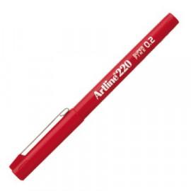 Kuitukynä Artline 220 0,2mm Punainen