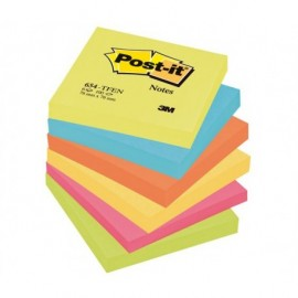 Post-It 654TFEN 76x76 mm Viestilappu Energetic-värilajitelma