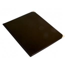 Menukansio A4 musta metallikulmat