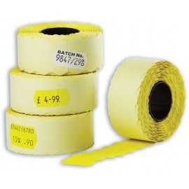 Etiketti 26x12 mm keltainen irtoava hinnoittelijaan