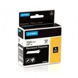 Dymo RP 12mm Polyester musta/valkoinen