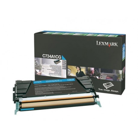LEXMARK Cyan Prebate Cartridge C73x X73x 6.000pages