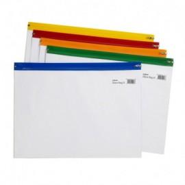 Vetoketjutasku Snopake Zippa Bag S A4 kirkas/värilajitelma