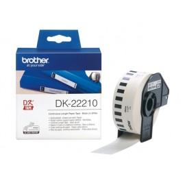 Brother DK-22210 Tarranauha 29mm musta/valk